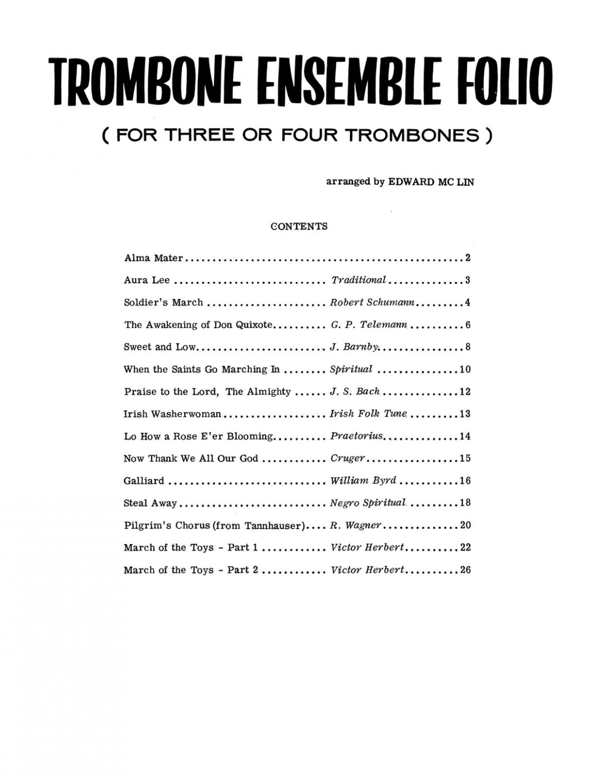 McLin, Trombone Ensemble Folio-p03