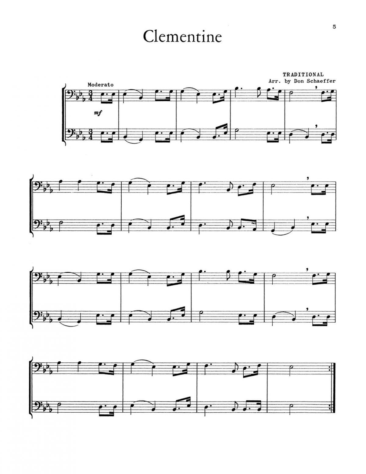 Schaeffer, 21 Rhythmic Duets for Trombone-p07