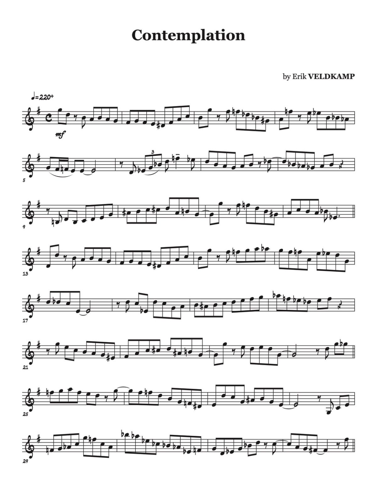 Veldkamp, 16 Swinging Etudes (for the advanced trumpet player)-p07