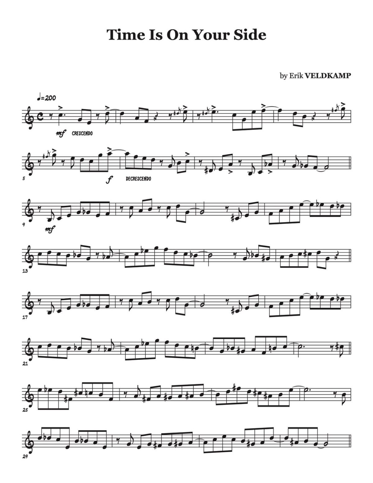 Veldkamp, 16 Swinging Etudes (for the advanced trumpet player)-p37