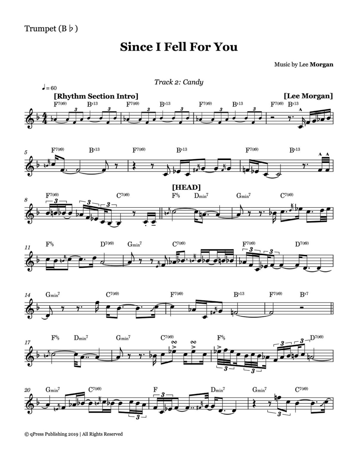 Morgan, Candy Complete Album Transcription-p14