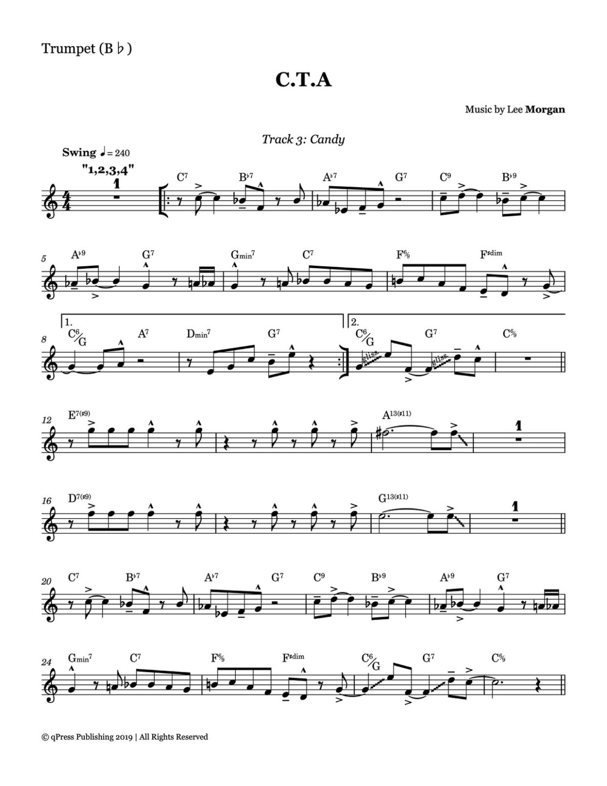 Morgan, Candy Complete Album Transcription-p17