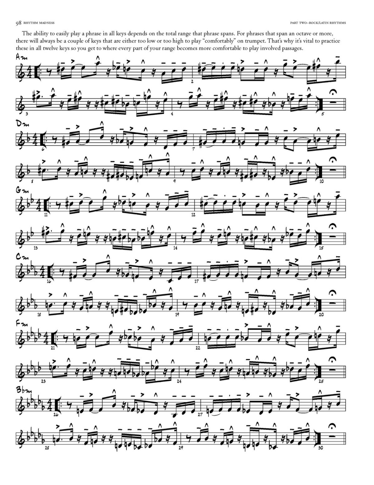 Willey, Rhythm Madness for Trumpet-p106