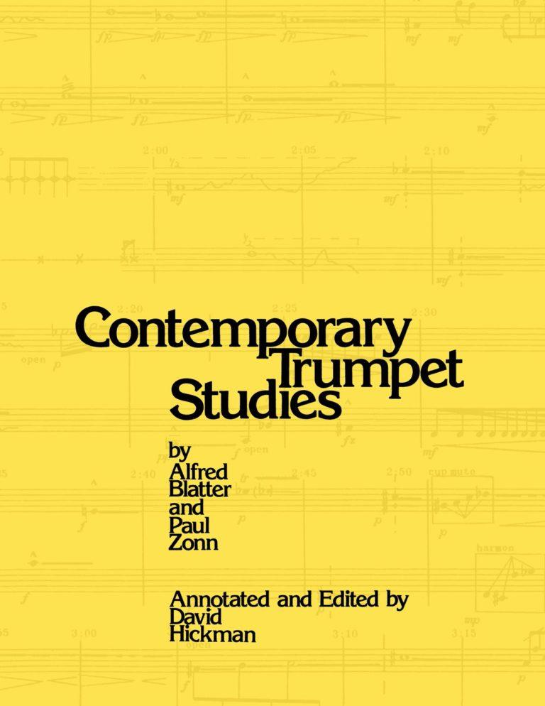 Blatter & Zonn's Contemporary Trumpet Studies