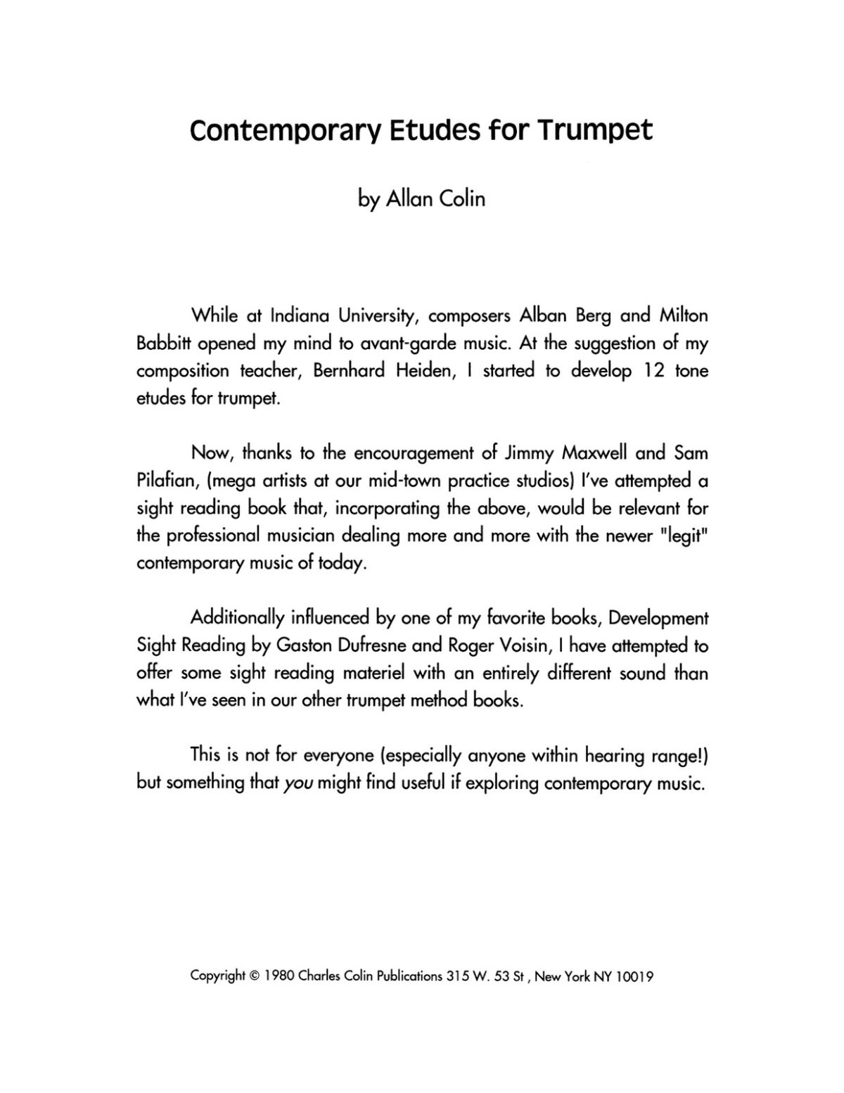 Colin, Allan, Contemporary Etudes for Trumpet-p03