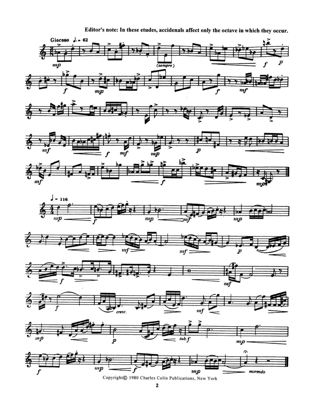 Colin, Allan, Contemporary Etudes for Trumpet-p04