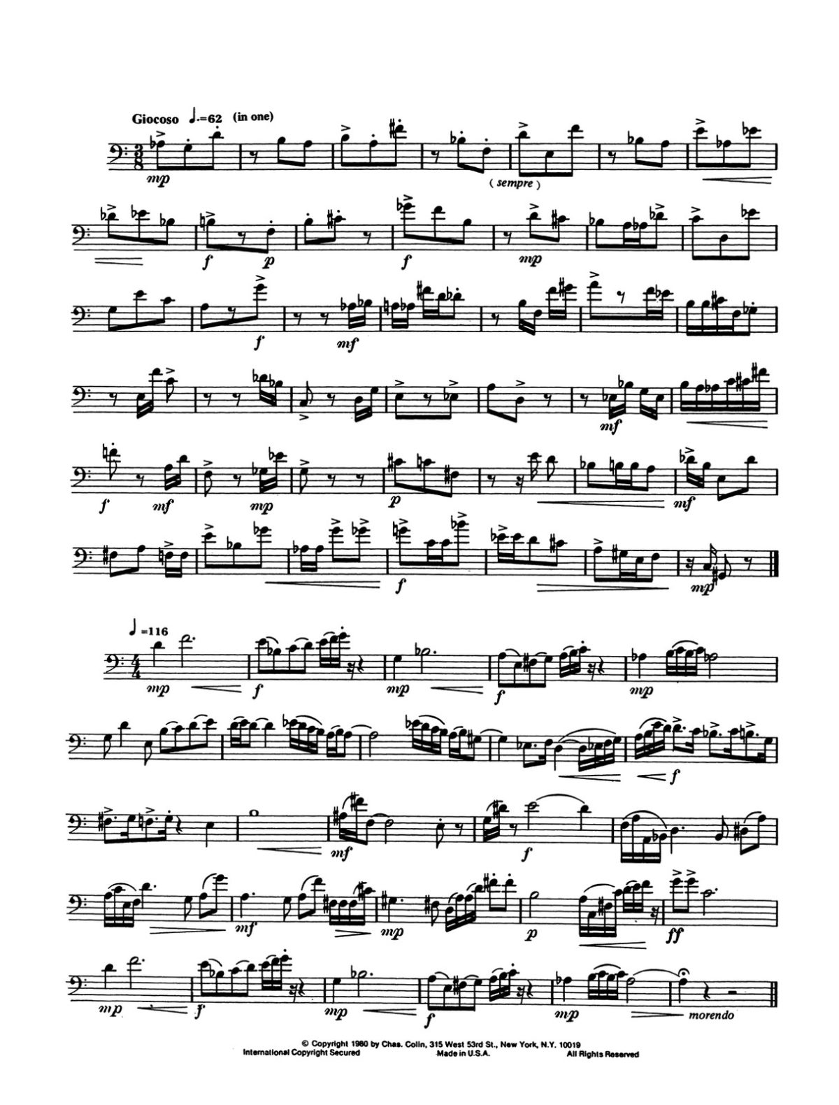 Colin, Contemporary Etudes in Bass Clef-p04