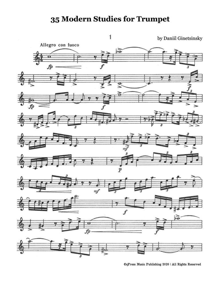 Modern Studies for Bb Trumpet