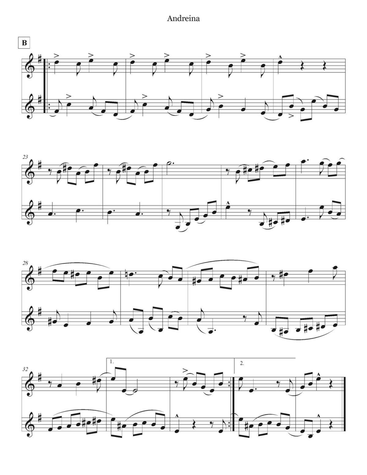 Lauro, 16 Venezuelan Waltzes for Two Trumpets-p19
