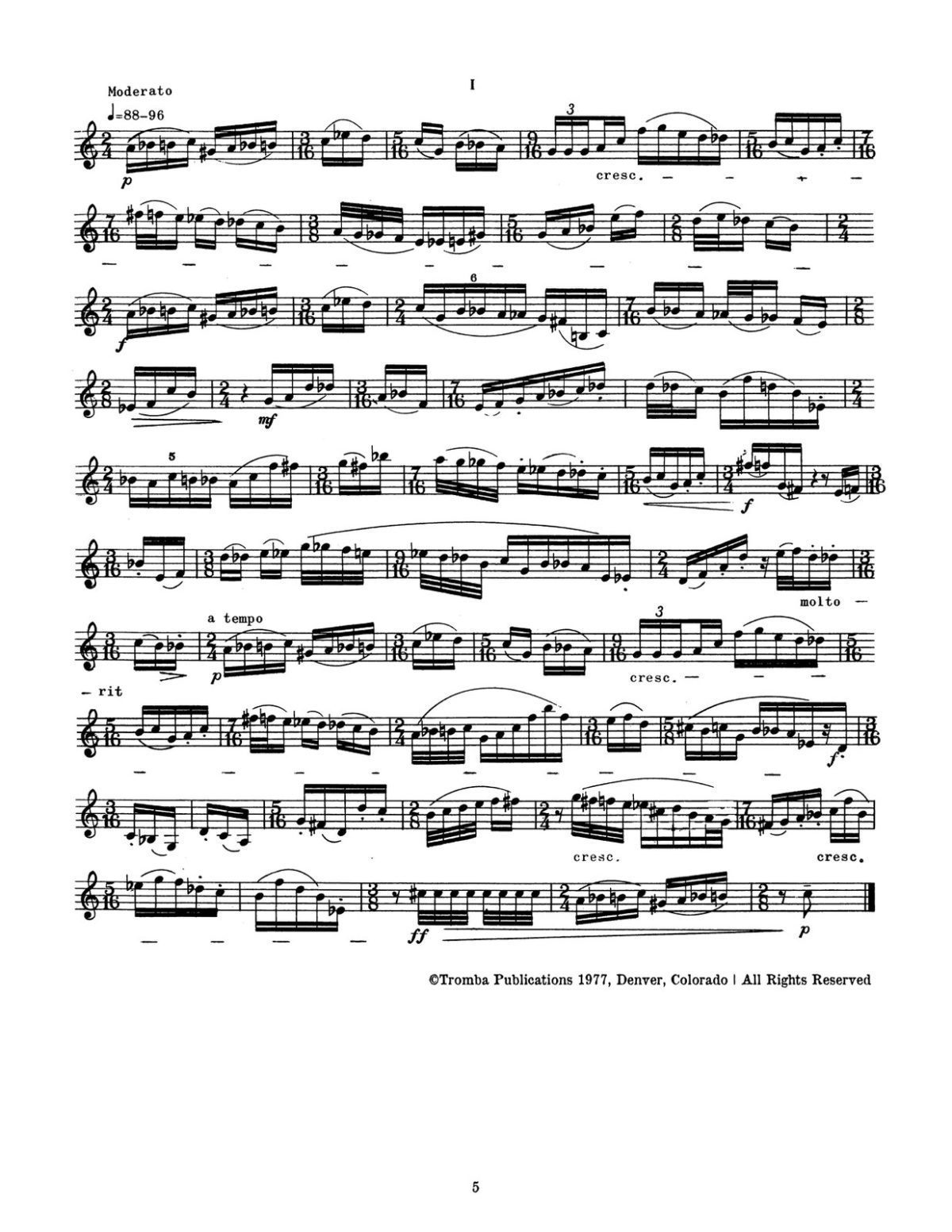 Plog, 16 Contemporary Etudes for Trumpet-p05