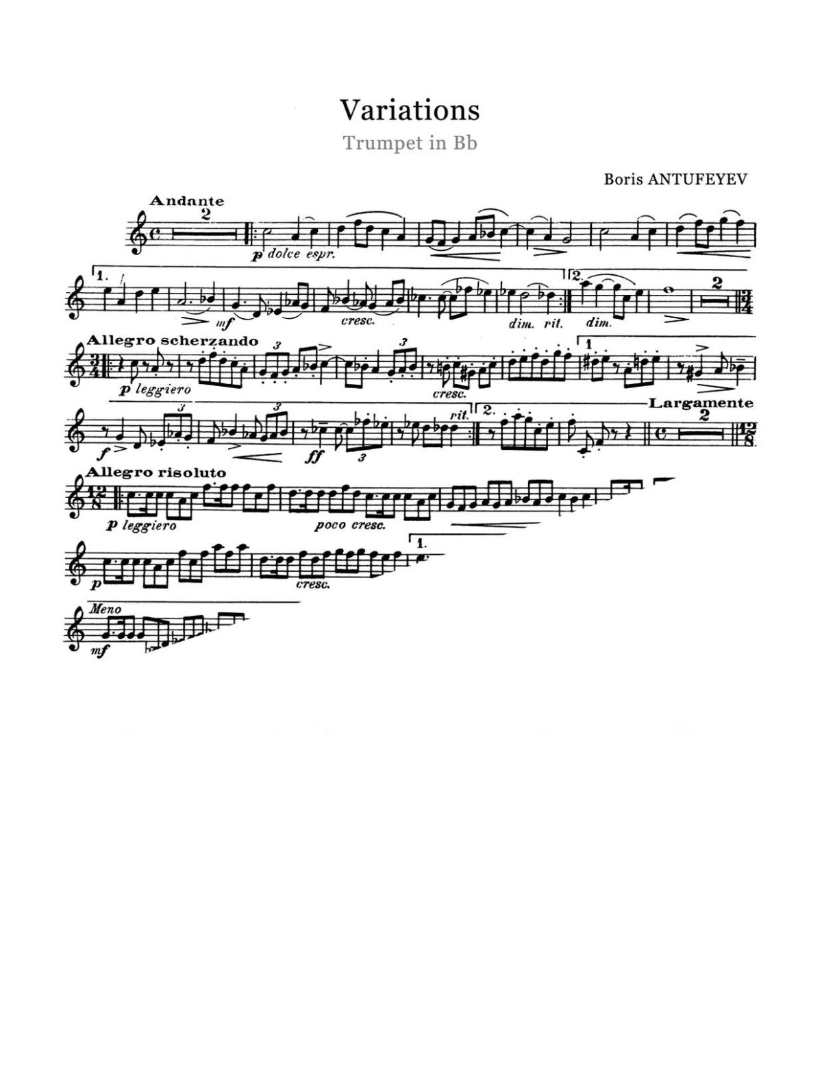 Antufeyev, Boris, Variations for Trumpet and Piano-p03