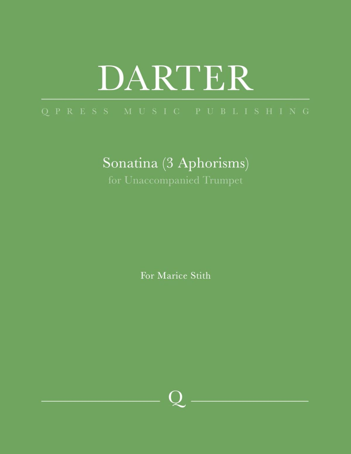Darter, Sonatina (3 Aphorisms) for Unaccompanied Trumpet-p1