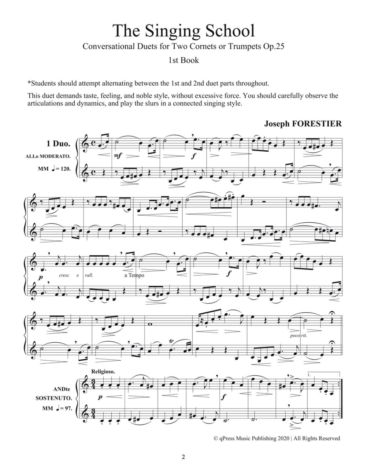 Forestier, 24 Progressive Conversational Duets for Trumpet-p02