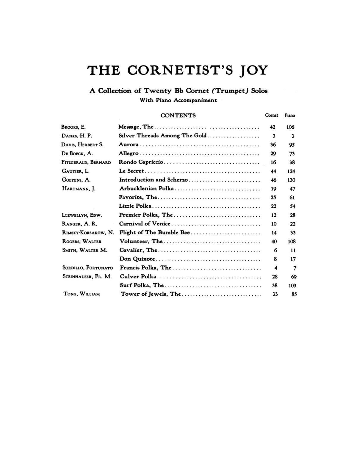 Various, The Cornetist's Joy (Part & Score)-p002