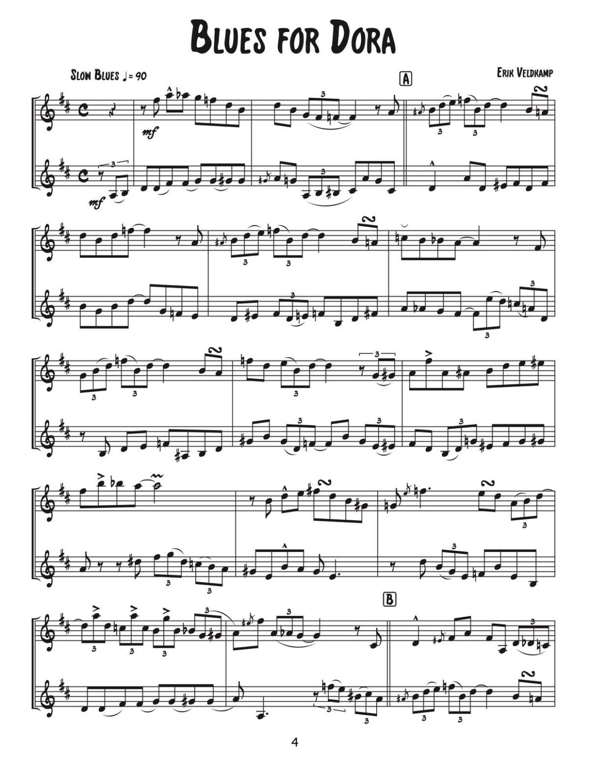 Veldkamp, 12 Challenging Latin & Jazz Duets-p06