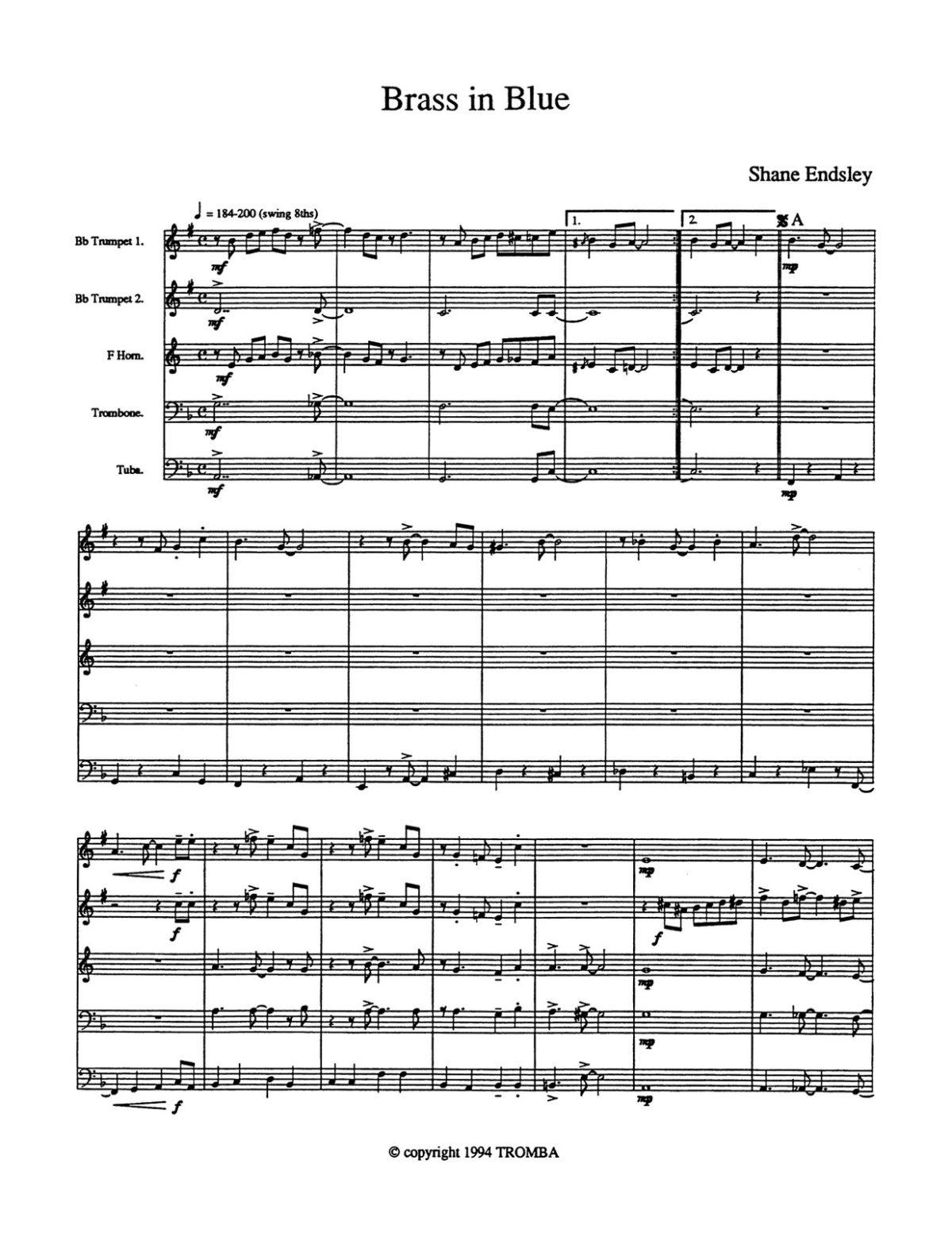 Endsley, Brass in Blue-p13