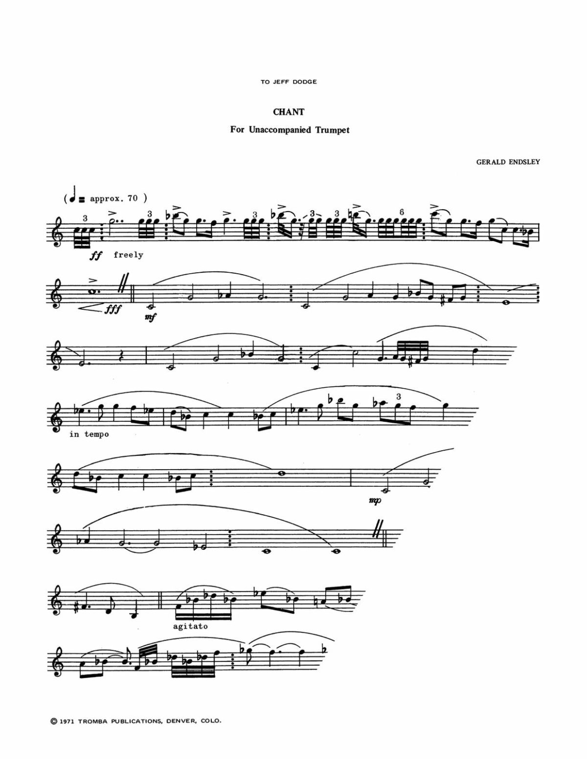 Endsley, Chant for Unaccompanied Trumpet-p2