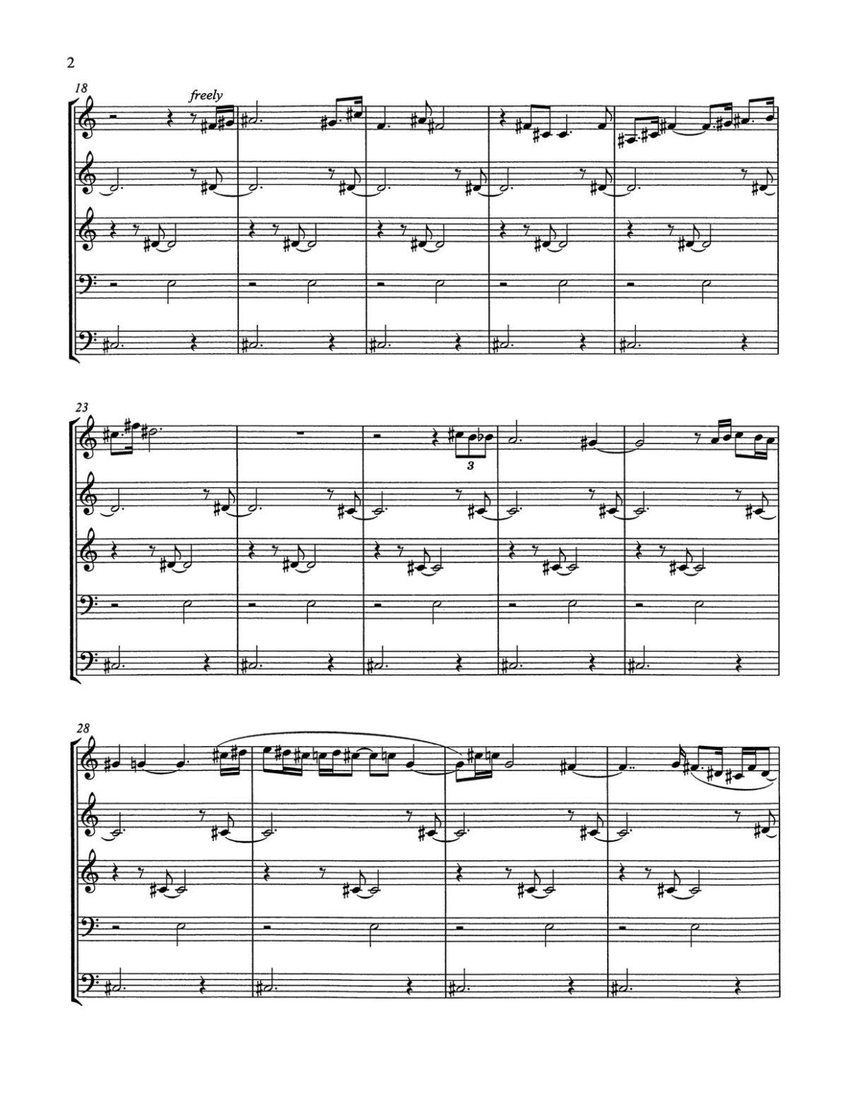 Endsley, Marguerite for Brass Quintet-p14