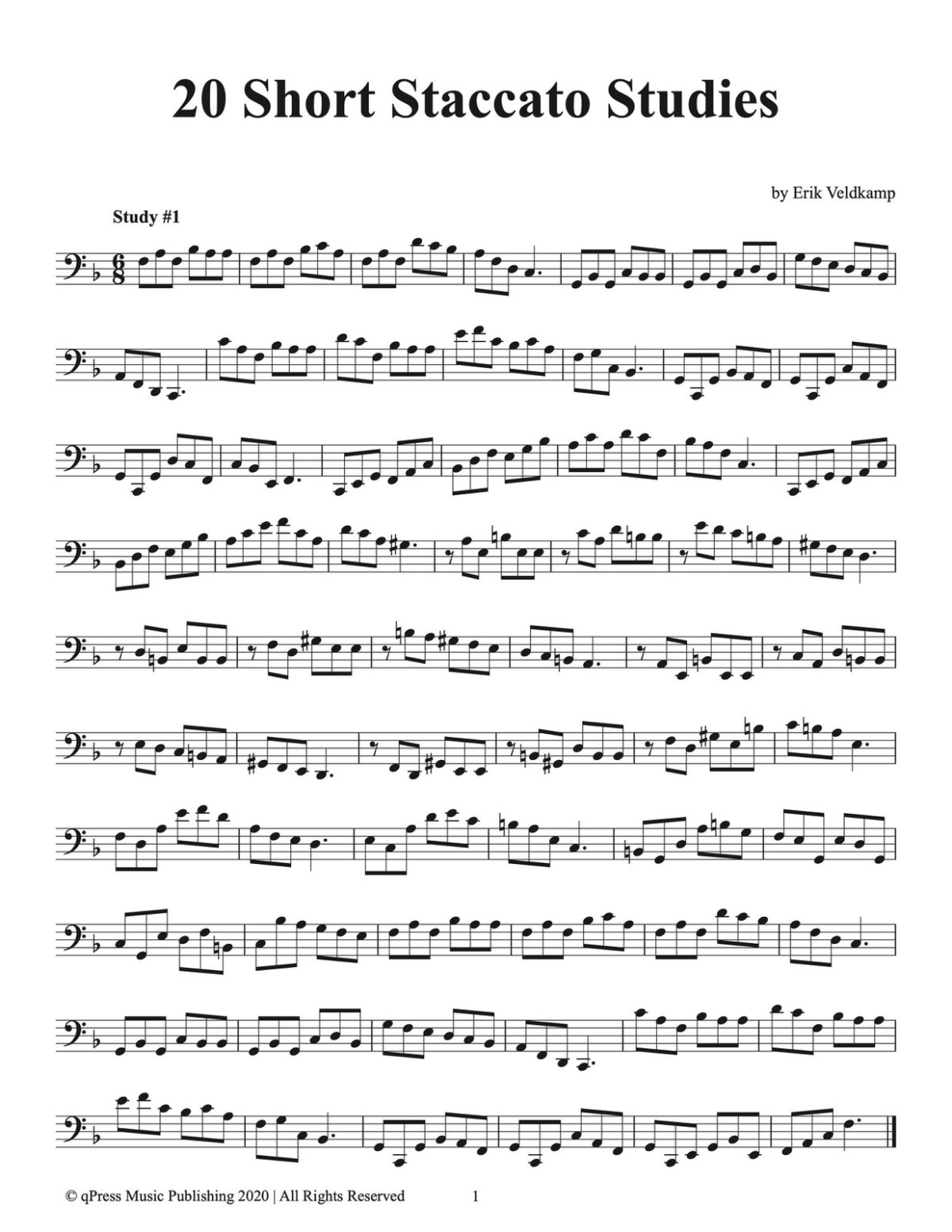 20 Short Staccato Studies for Tuba-p03