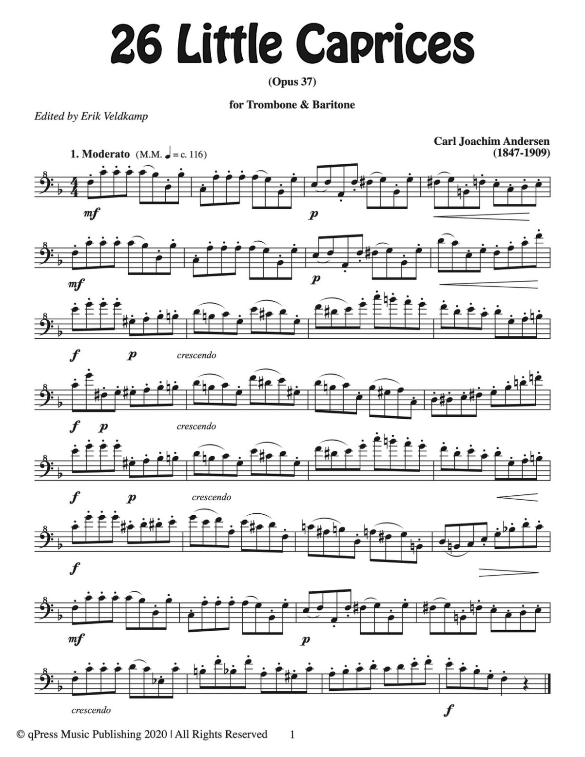 Andersen-Veldkamp, 26 Little Caprices Trombone and Baritone-p03