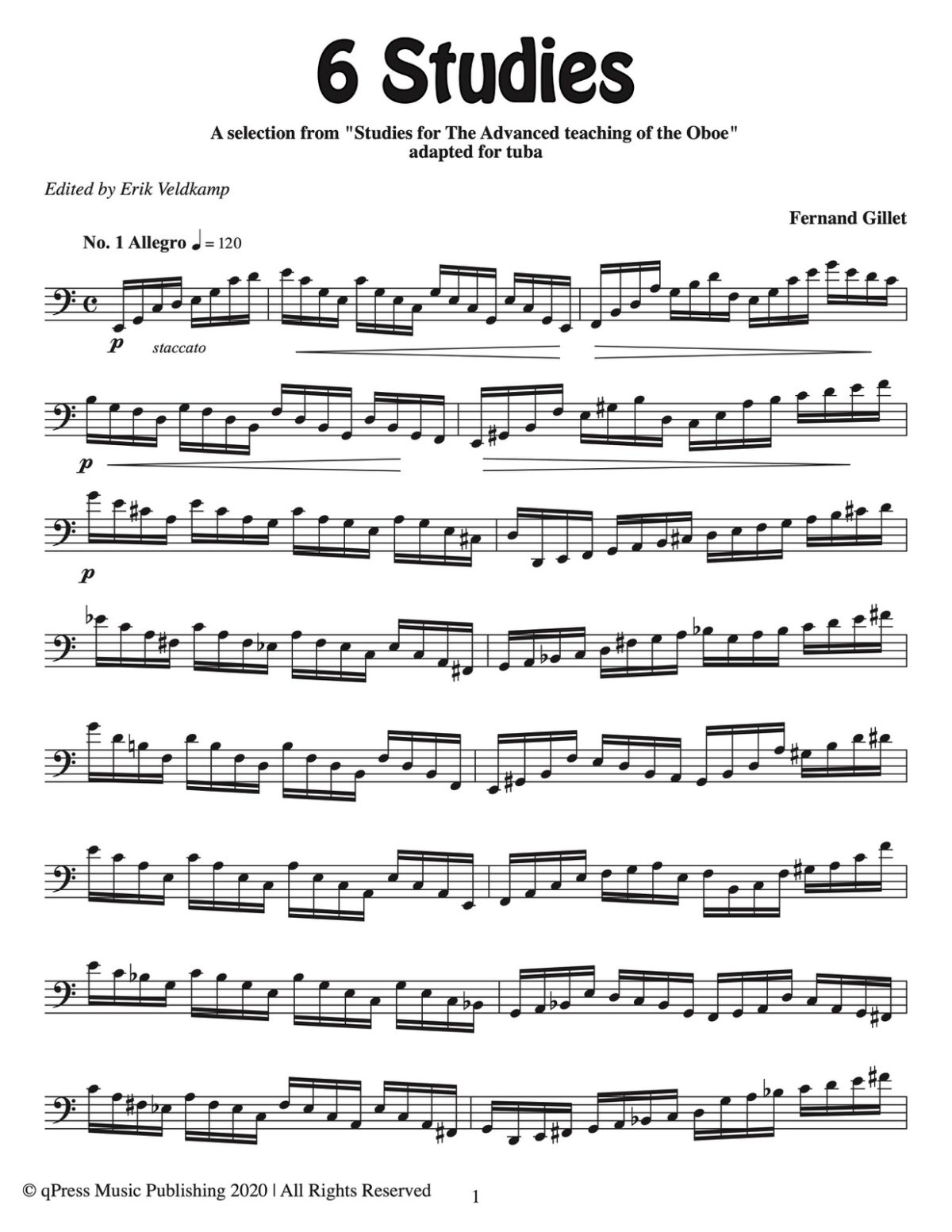 Gillet – 6 Studies for Tuba – Score-p03