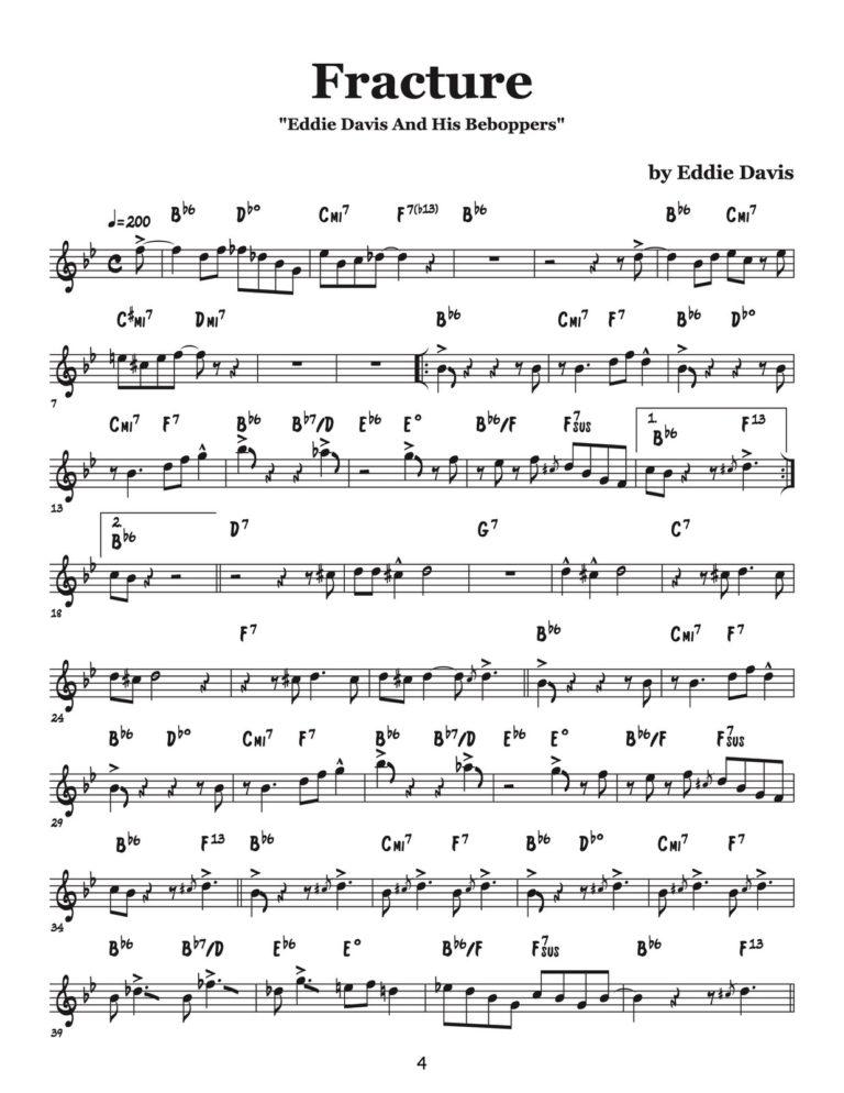 """Eddie Davis & His Beboppers"" Fats Navarro Complete Album Transcription"