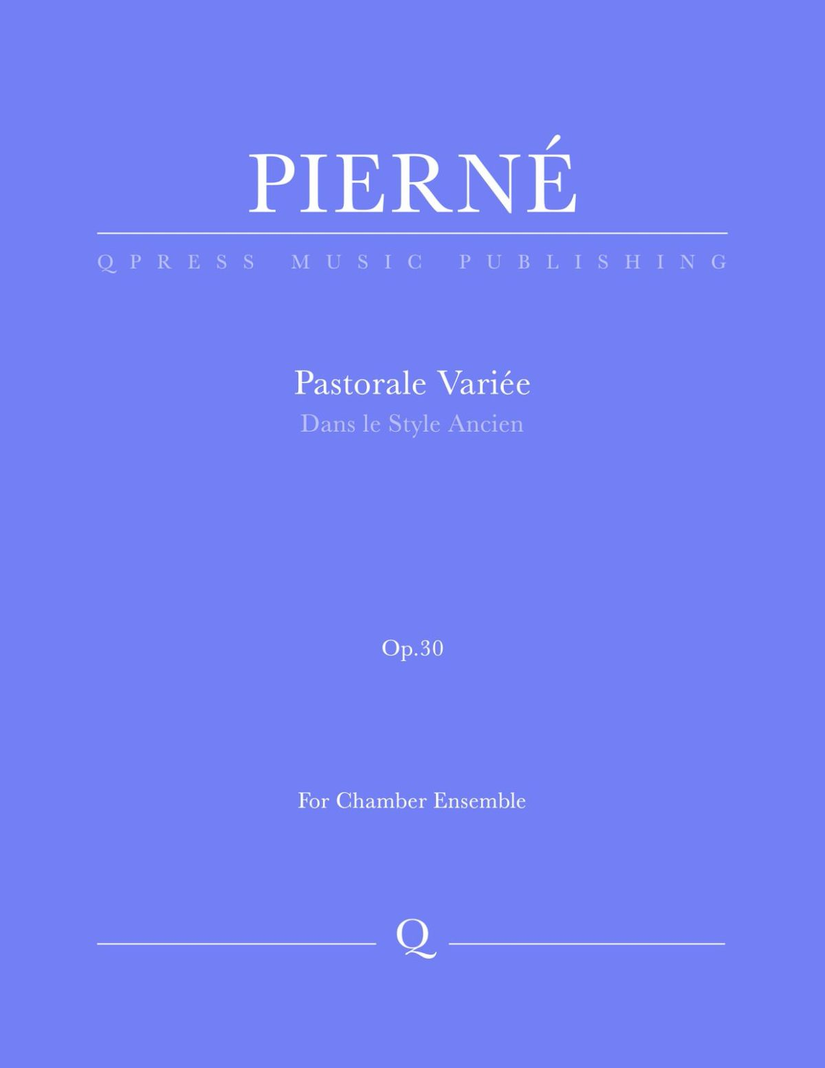Pierné, Pastorale Variée Parts and Score-p01