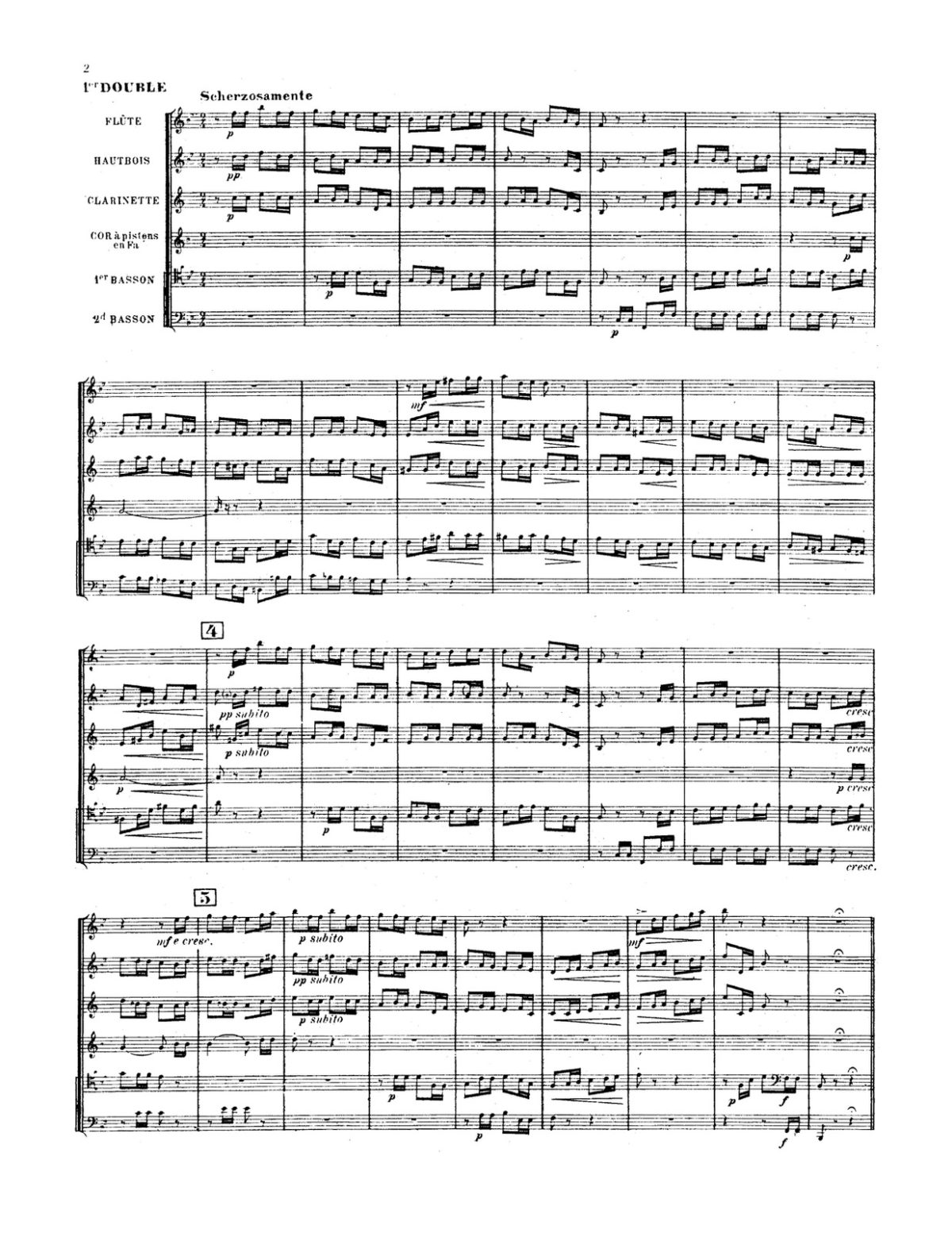 Pierné, Pastorale Variée Parts and Score-p30