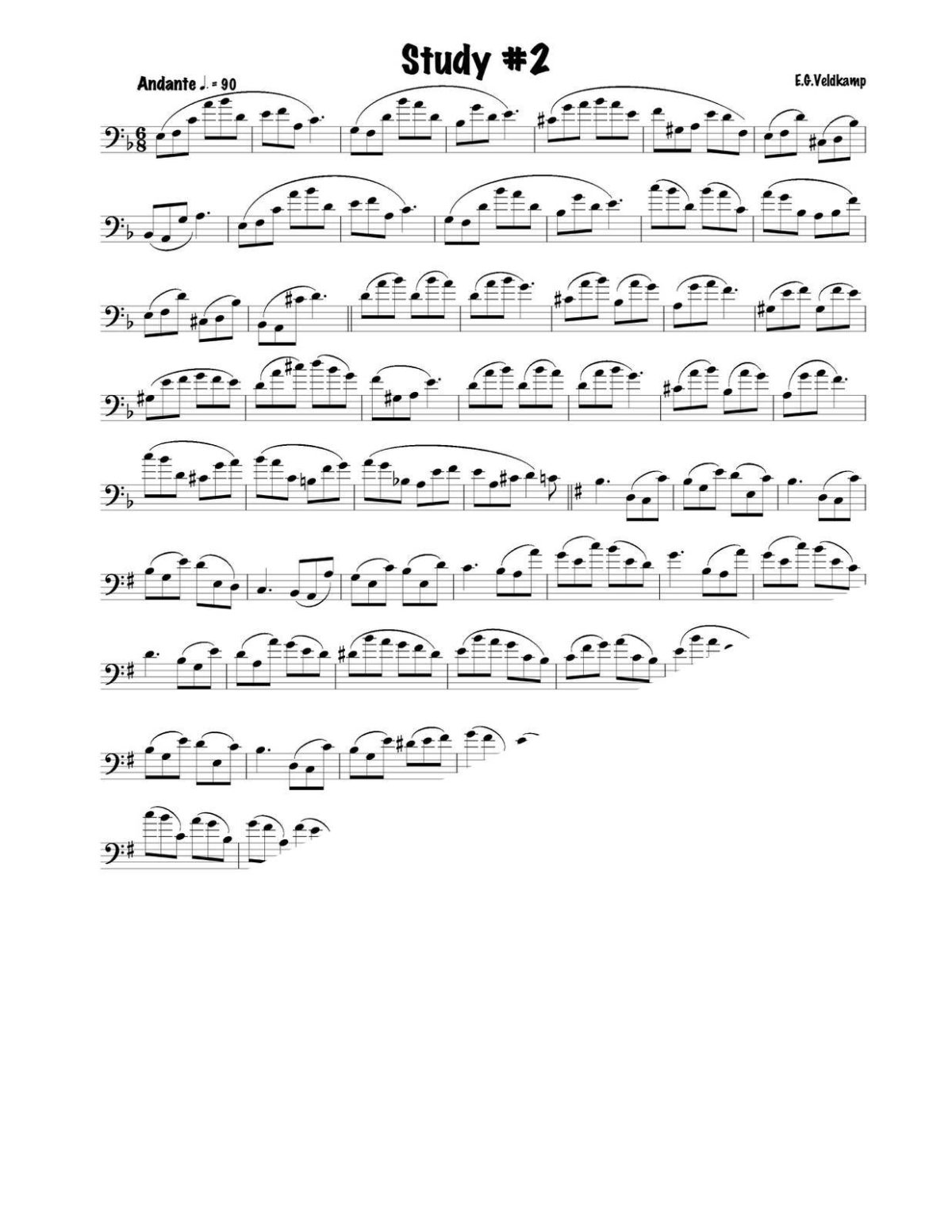 Veldkamp 16 Advanced Lip Slur Studies (Bass Clef)-p05