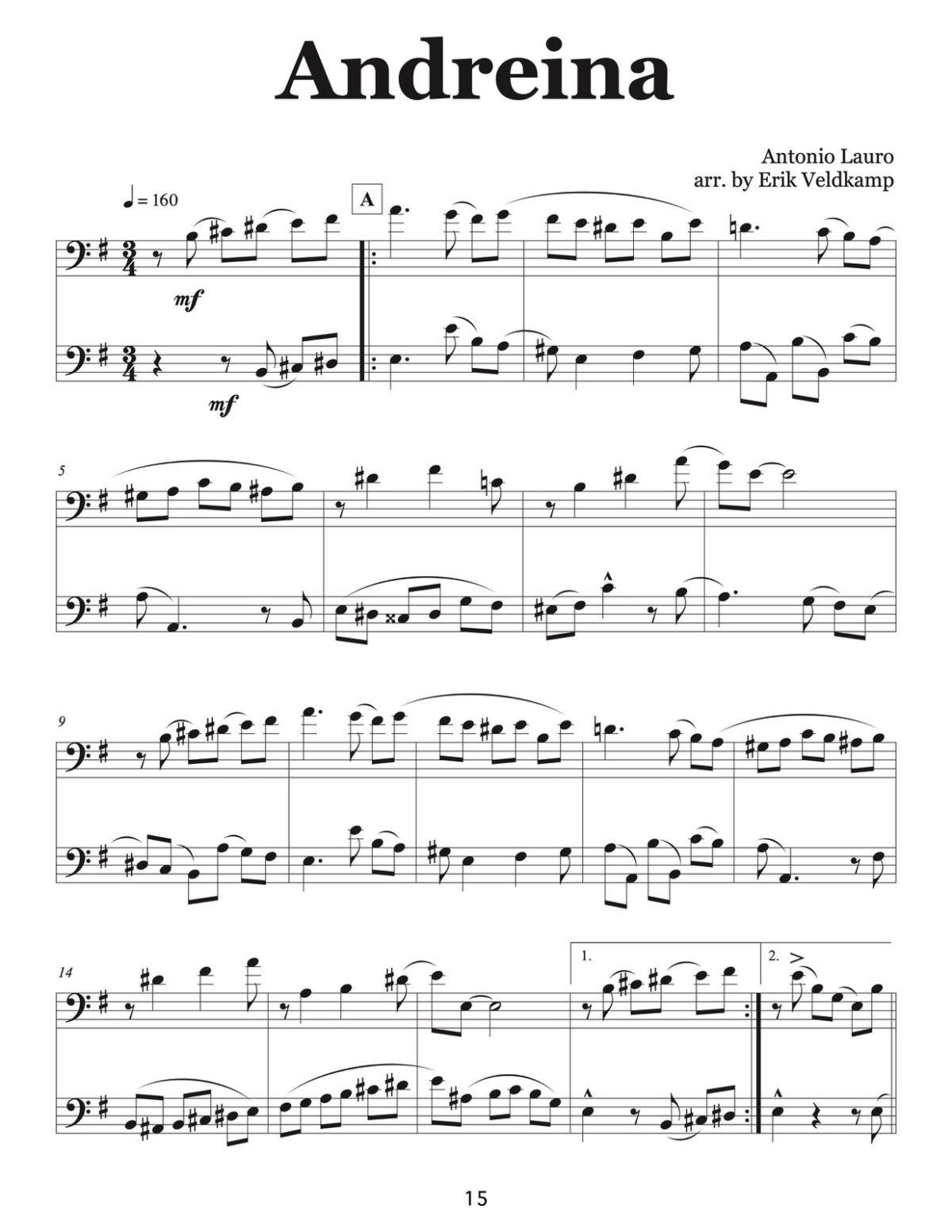 Veldkamp, 16 Venezuelan Waltzes for Trombone-p17