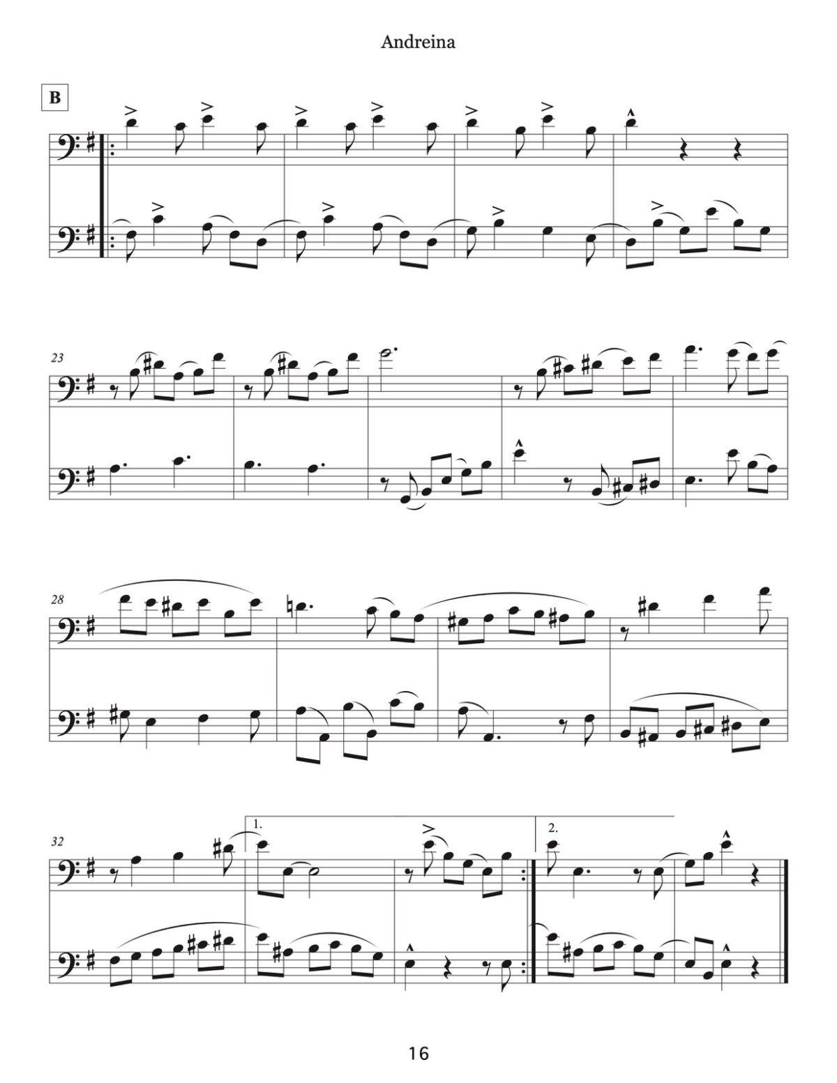 Veldkamp, 16 Venezuelan Waltzes for Trombone-p18