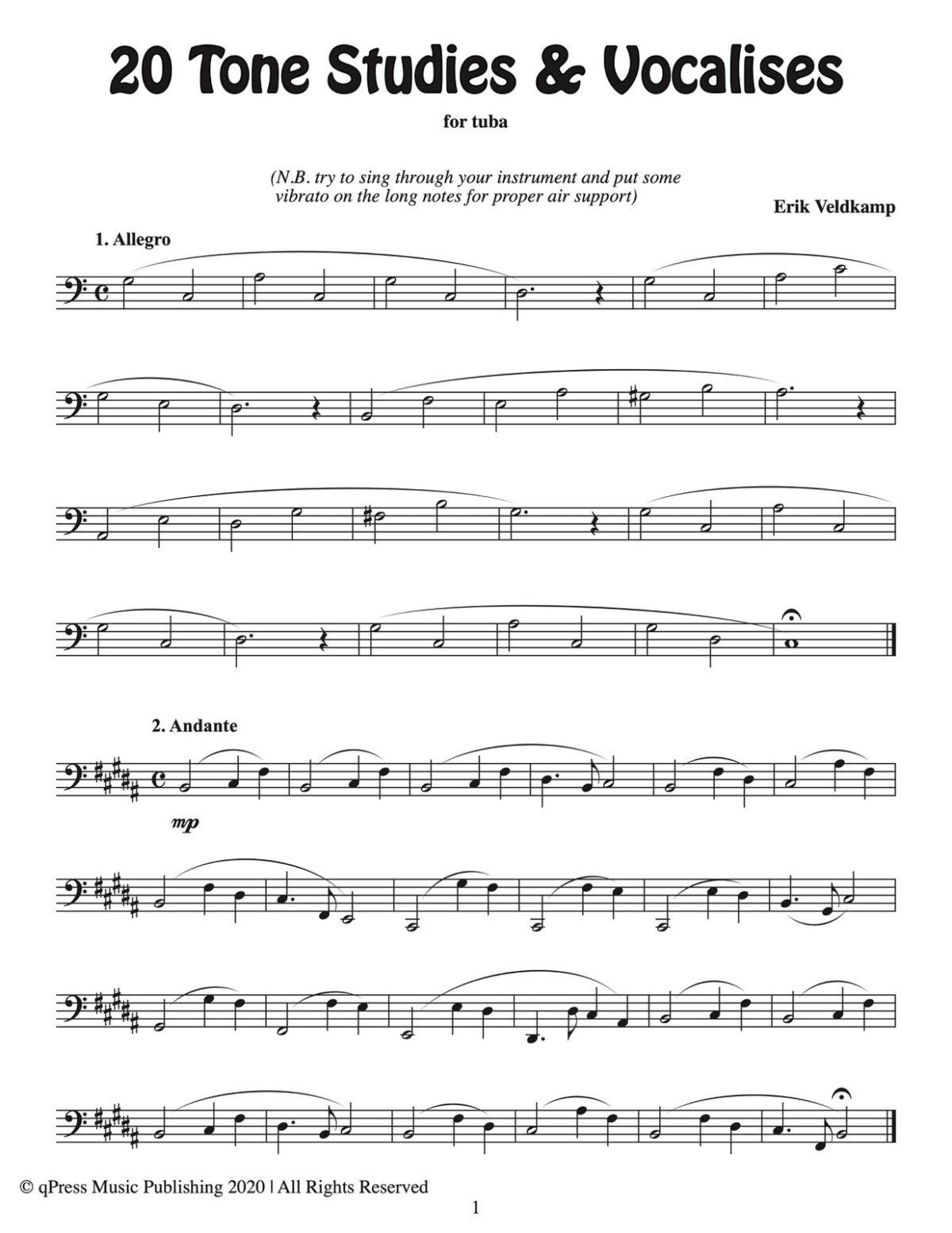 Veldkamp, 20 Tone Studies for Tuba-p03