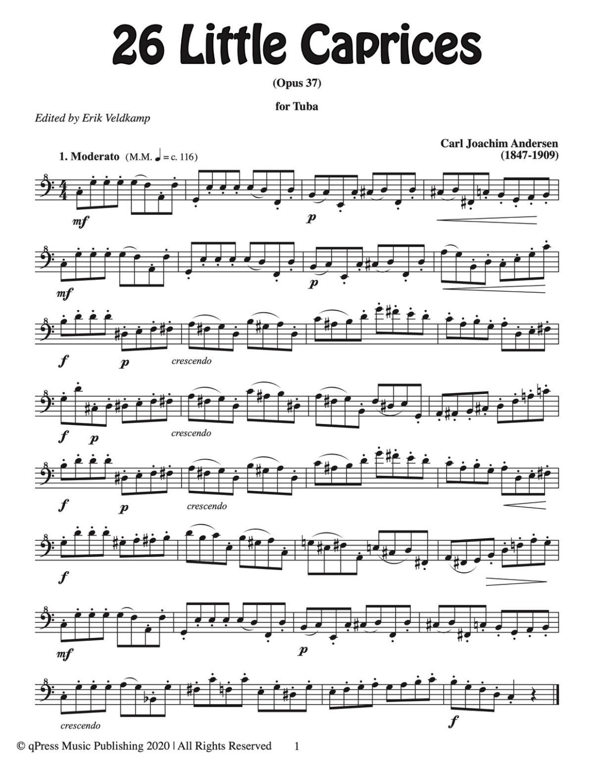 Veldkamp-Andersen, 26 Little Caprices for Tuba-p03