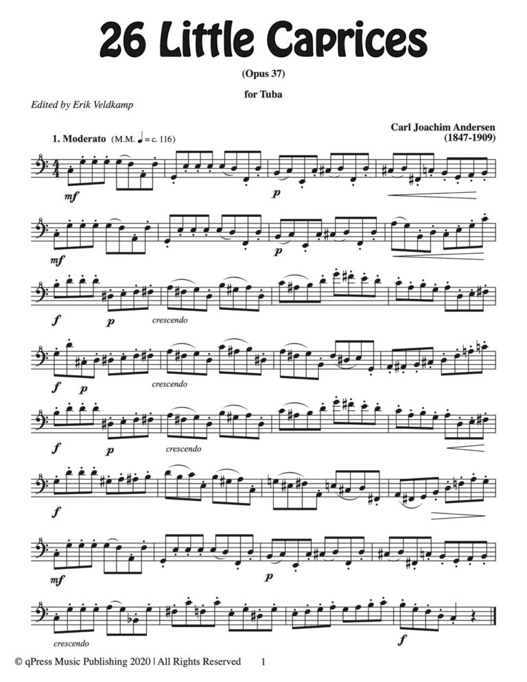 26 Little Caprices for Tuba
