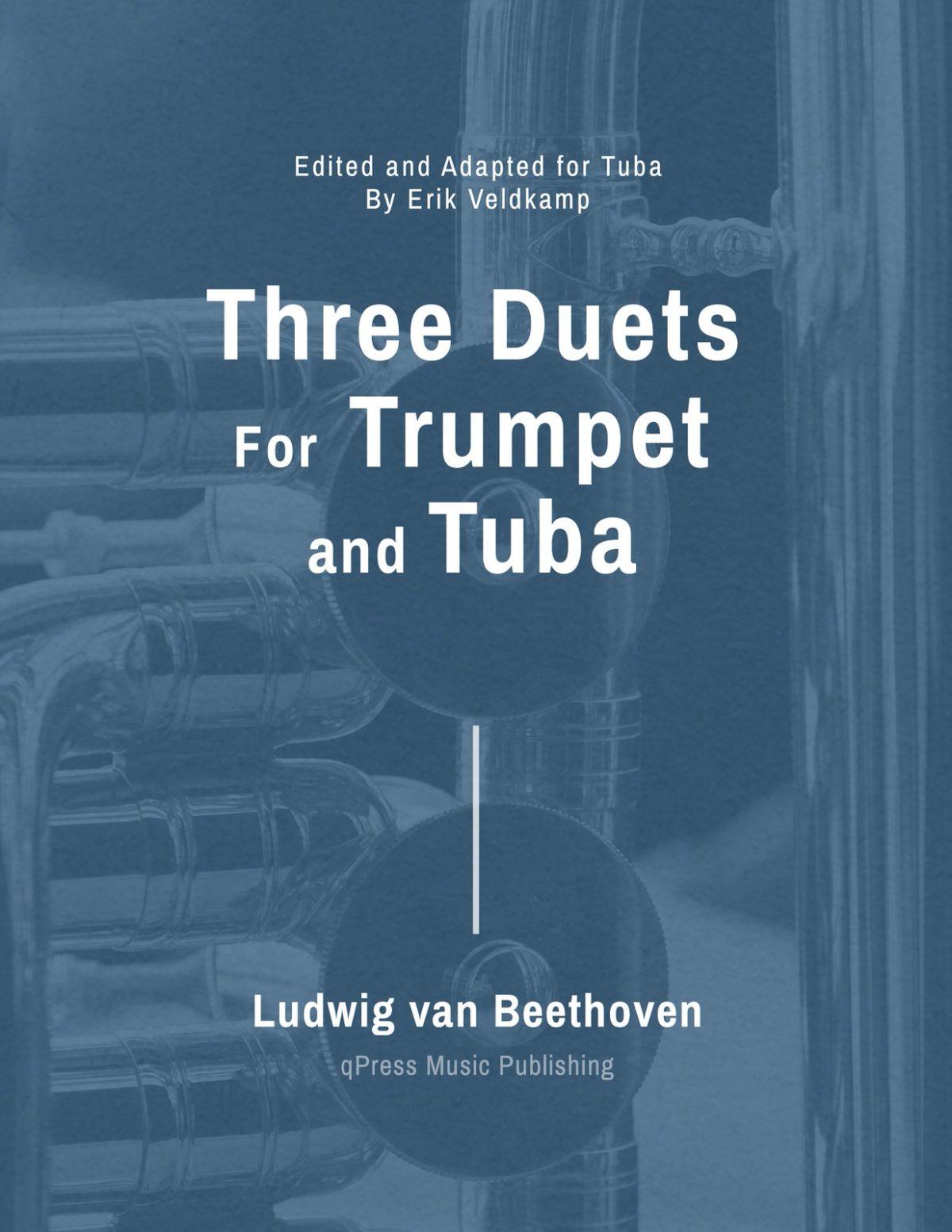 Veldkamp-Beethoven, 3 Duets for Trumpet & Tuba-p01