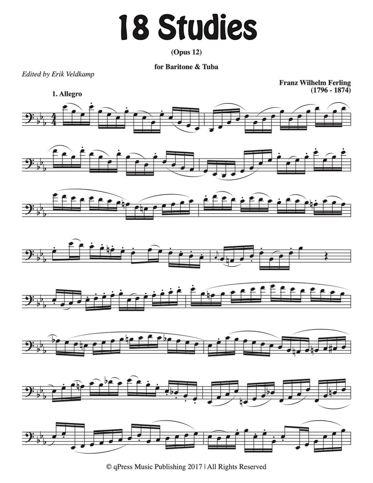 Veldkamp-Ferling, 18 Studies for Tuba-p03