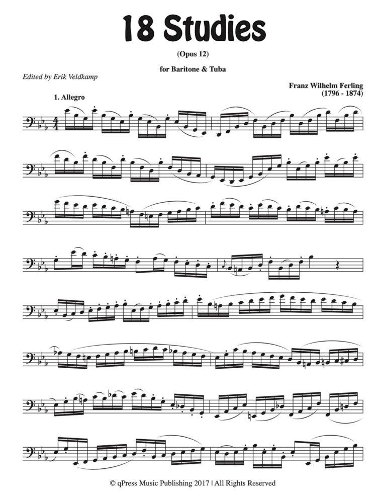 18 Studies for Tuba