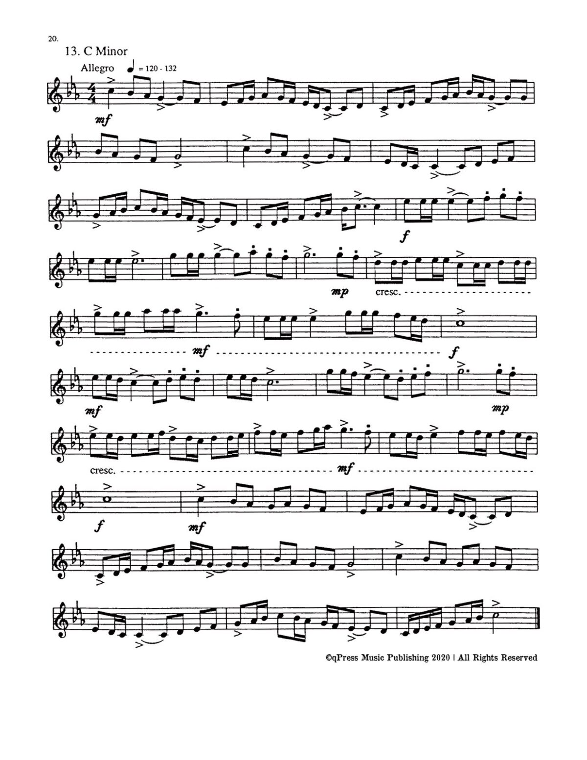 Etudes – Glowaty, 24 Etudes in all Major and Minor Keys for the progressing trumpet player bw-p24