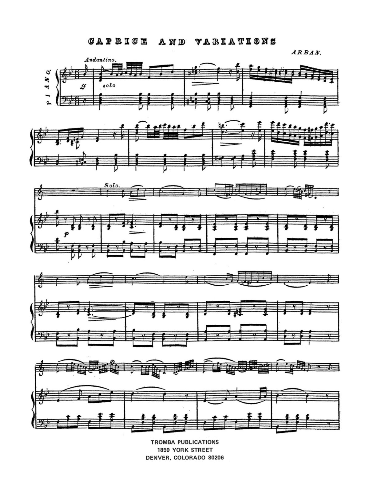 Arban, Caprice and Variations-p05