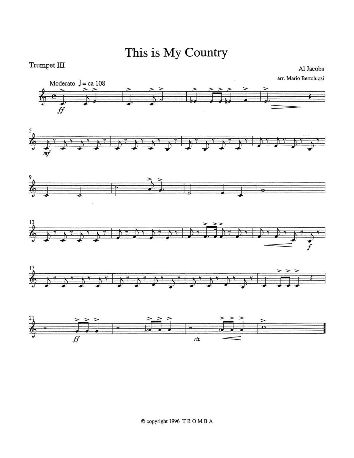Bertoluzzi, An American Collection for Trumpet Quartet-p12