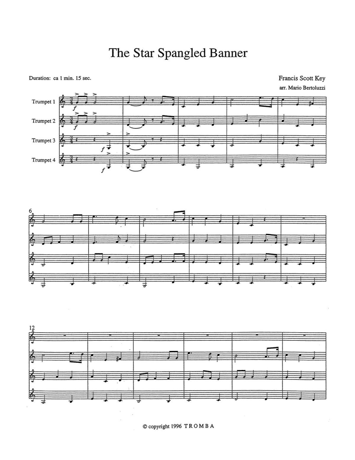 Bertoluzzi, An American Collection for Trumpet Quartet-p19