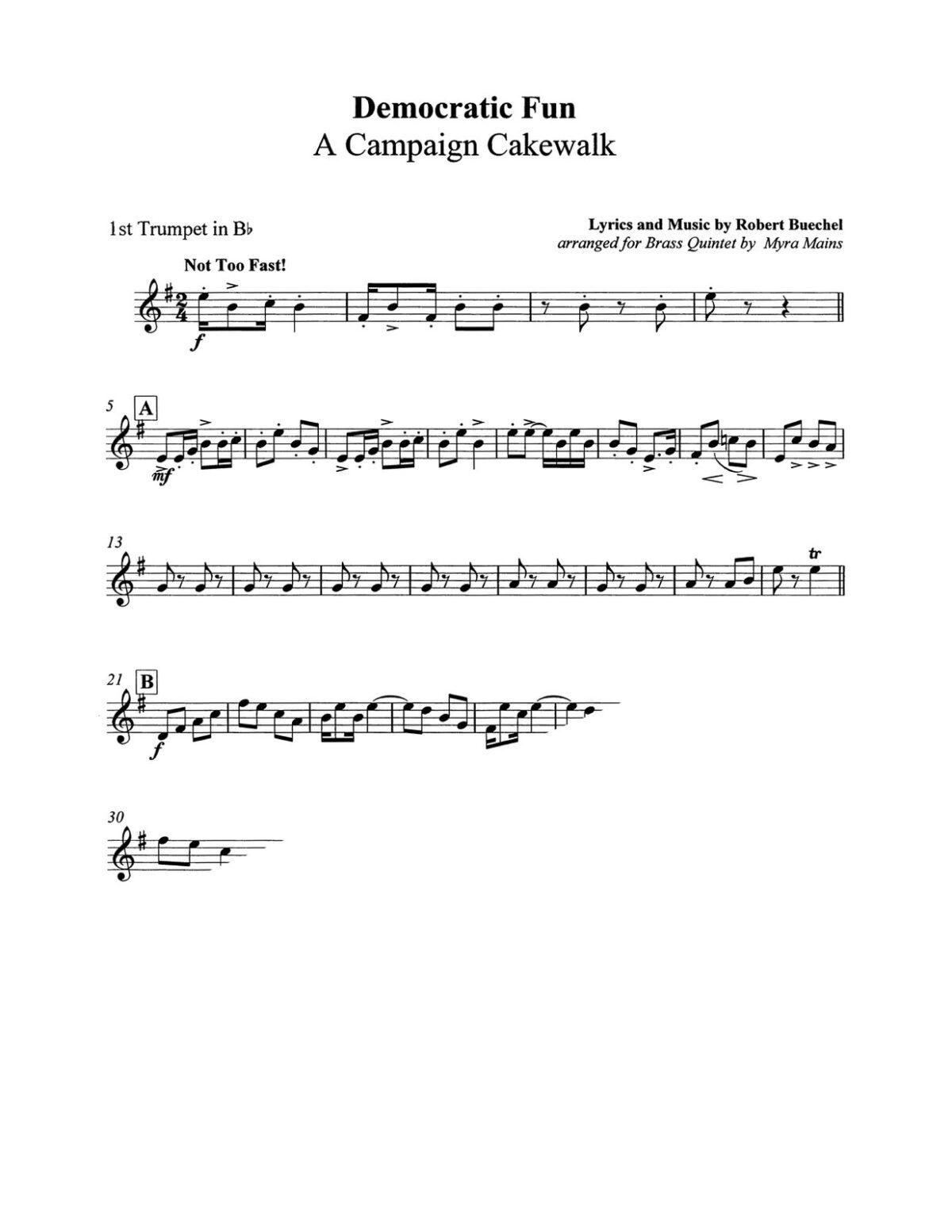Buechel arr Mains, Democratic Fun A Campaign Cakewalk brass quintet-p3-p1
