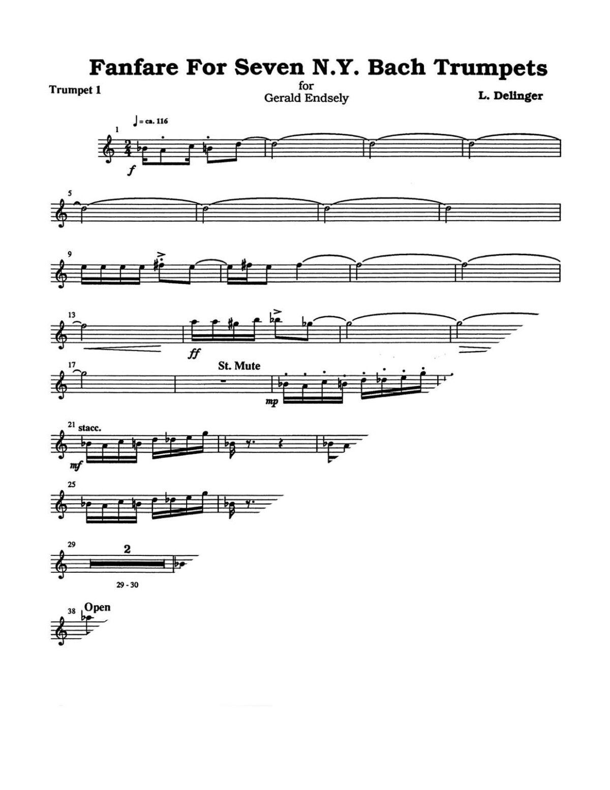 (Chamber) Delinger, Fanfare for Seven N.Y. Bach Trumpets-p03