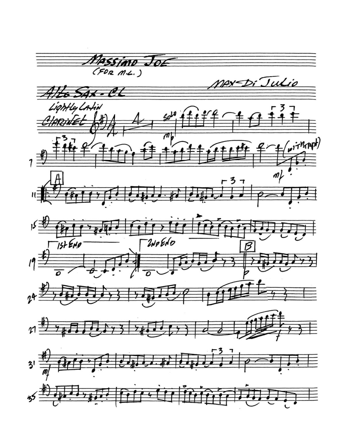 (Chamber) Dijulio, Five Pops Pieces-p27