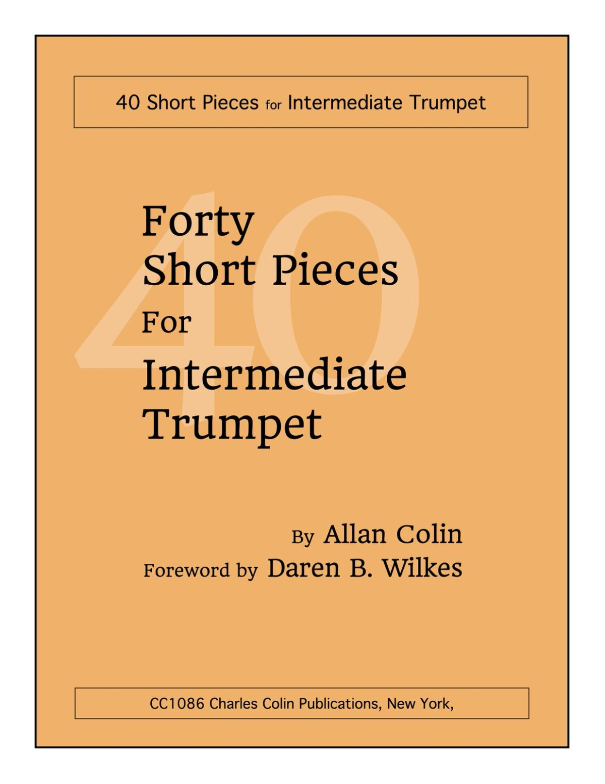 Colin, 40 Short Pieces for Intermediate Trumpet-p01