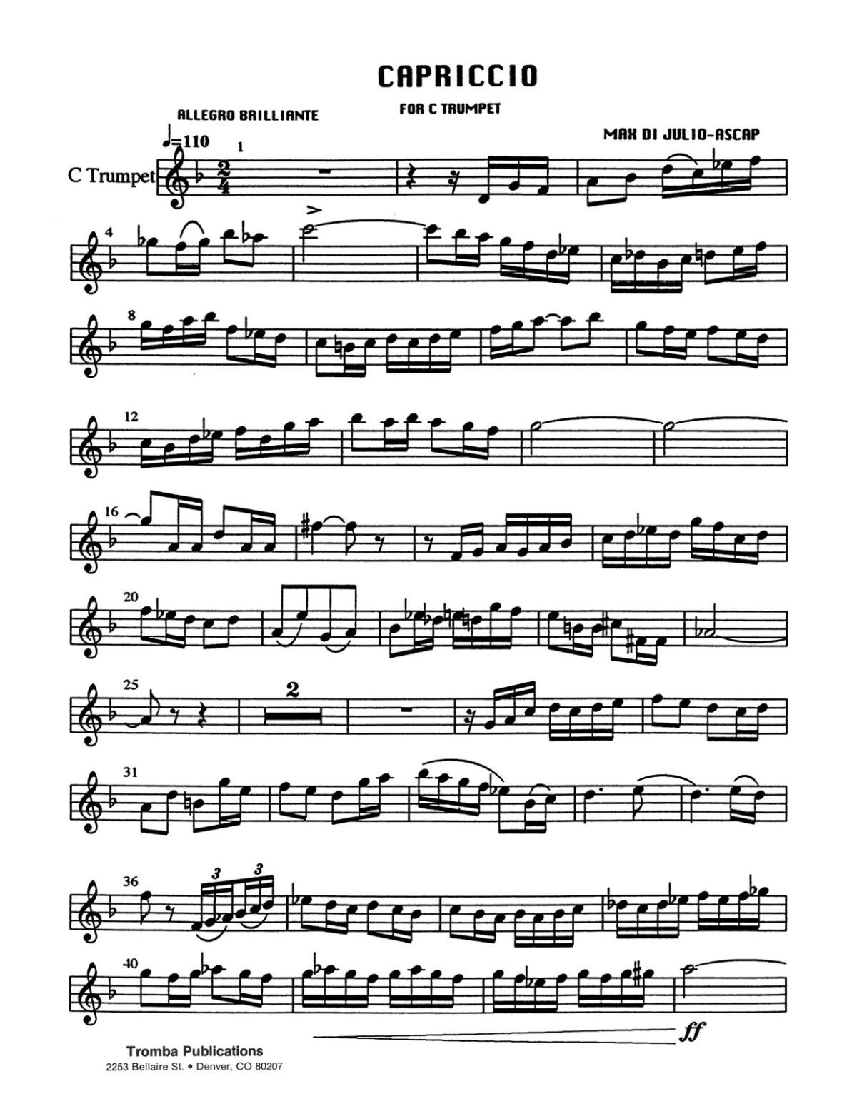 DiJulio, Four Sketches for Trumpet and Piano-p03