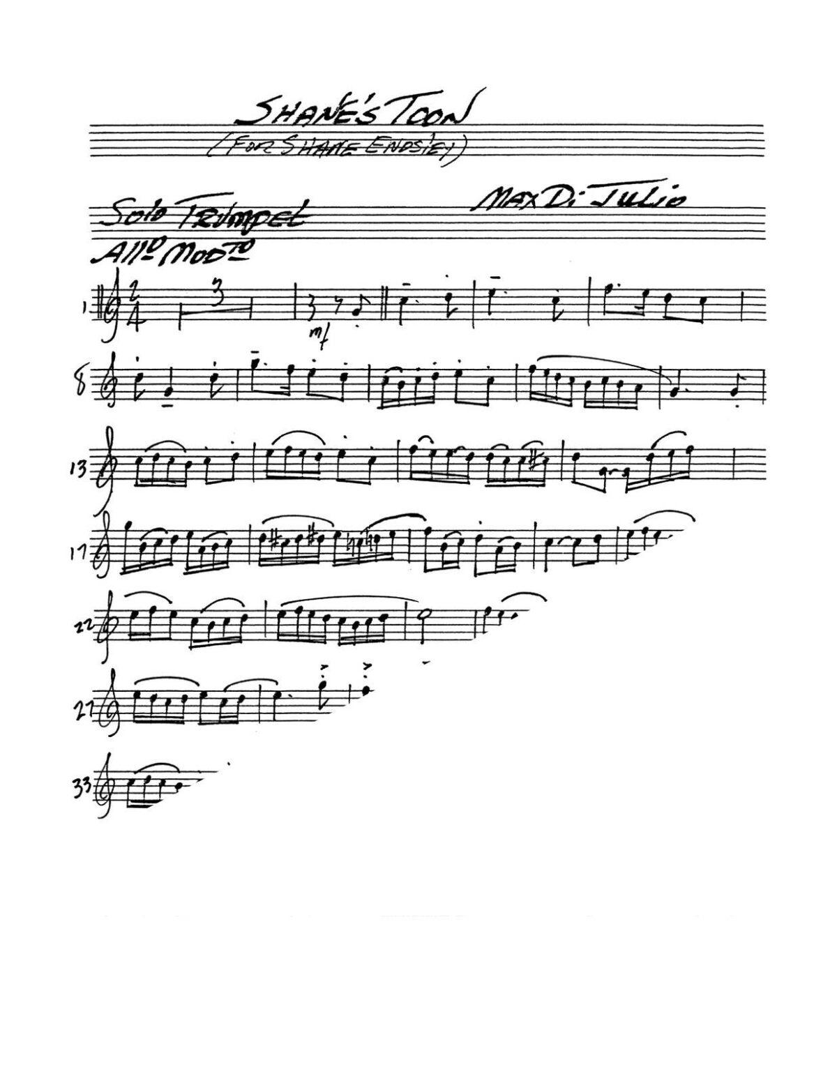 DiJulio, Shane's Toon Trumpet Solo