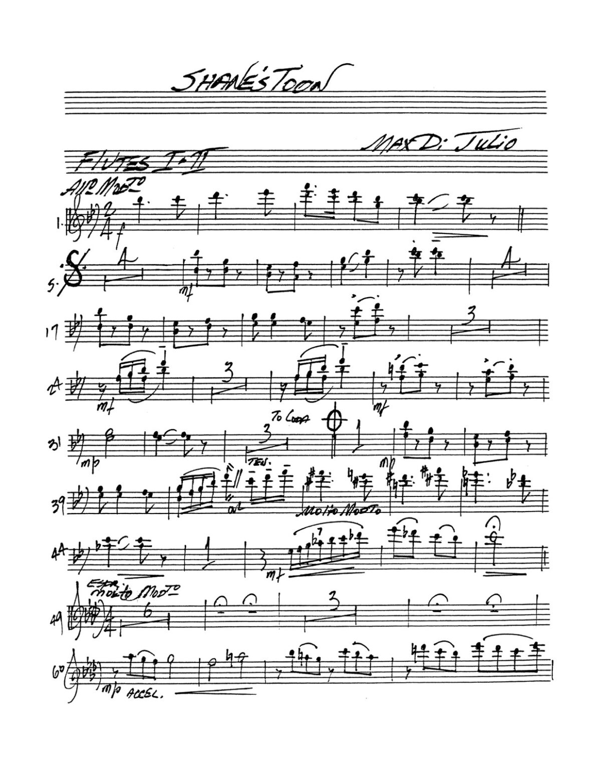 DiJulio, Shane's Toon for Trumpet and Band-p09