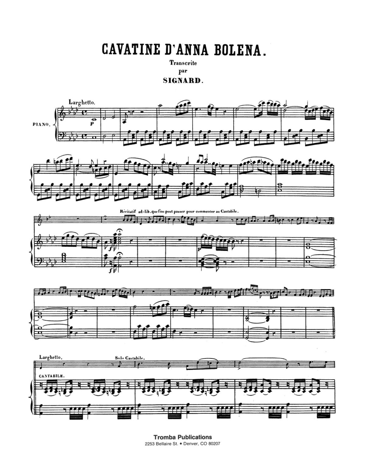 Donizetti arr. Signard, Variations on Cavatine d'Anna Bolena for Trumpet and Piano-p5