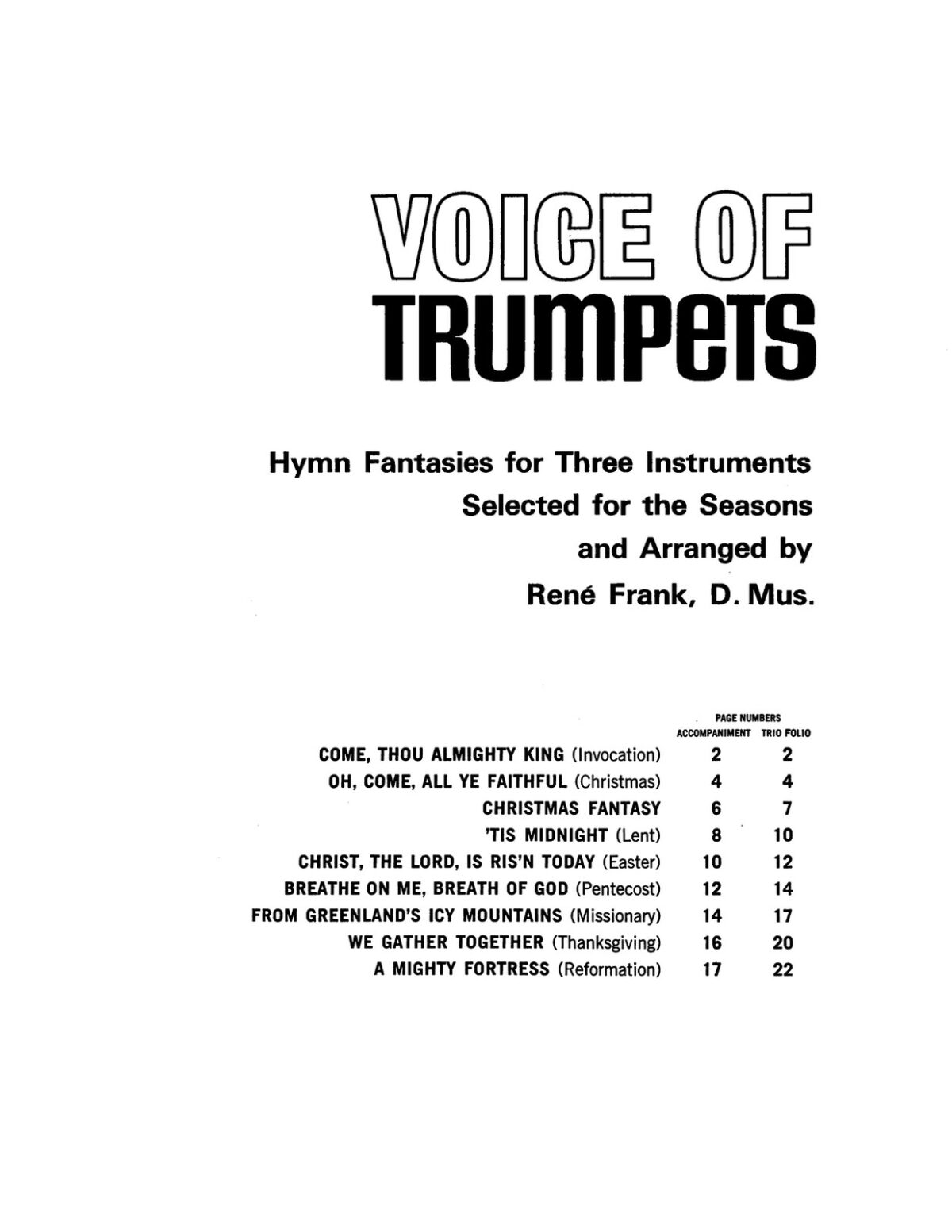 Frank, Voice of Trumpets, Hymn Fantasies for Three Instruments-p03